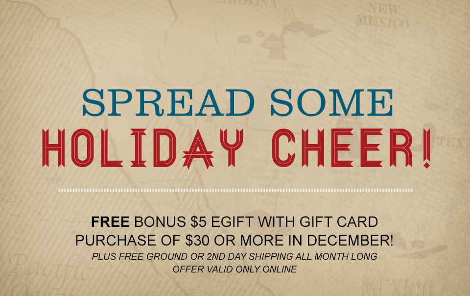 Bonus $5 eGift with purchase of $30 or more in gift cards online